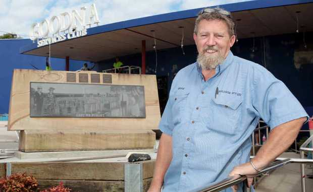 REOPENING IMMINENT: Site foreman Bruce Stacey at the Goodna RSL Club.