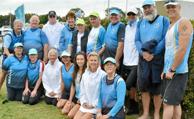Grafton/Coffs Coast Dragon Boat Club members.