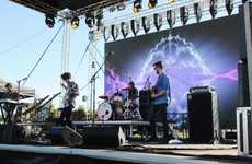 San Cisco on stage at the river sessions Photo Peter Holt / Daily Mercury