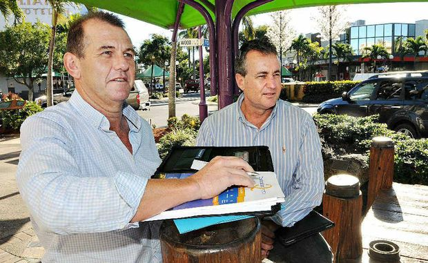 Councillors Greg Martin (left) and Chris Bonanno turn their attention to revitalising Mackay's city centre.