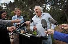 Clive Palmer addresses media at his Palmer Coolum Resort. FILE IMAGE