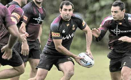 Cameron Smith trains with the Queensland squad at the Palmer Coolum Resort.