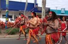 The streets of Mackay were filled with people as they marched from Victoria Street to Queens Park for the annual NAIDOC week celebration.
