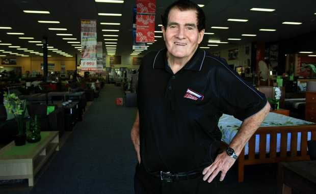 Super A-mart salesman Geoff Williams is 74 and hopes to work for another five years.