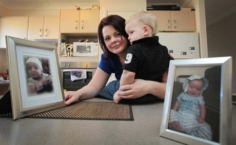 Skye Bannah, pictured with her son Alex, lost her son Joshua to Pneumococcal Septicemia.
