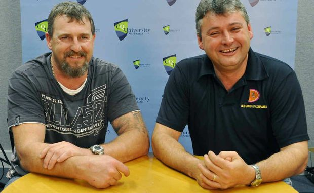 Beaconsfield miners Todd Russell and Brant Webb tell how paramedics kept their spirits up.