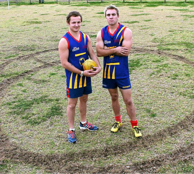 Redbacks players Tyhe Clarkson and Andrew Bardsley are disgusted by the damage to the field caused by hoons.