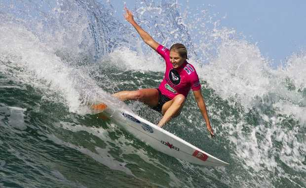 Stephanie Gilmore has a big reason to smile after securing her fifth world surfing title with a win at Roxy Pro Biarritz.