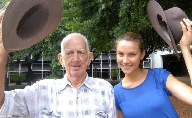 After a life spent working in the sun, Peter Kidcaff came along to the Shade Awareness Day at the MECC on Saturday for a skin check-up. In the process, he got to meet The Great Outdoors host and former Miss Universe Australian Rachael Finch.