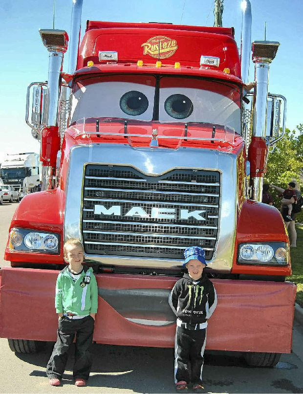 Mack the Truck was a popular drawcard during the convoy.