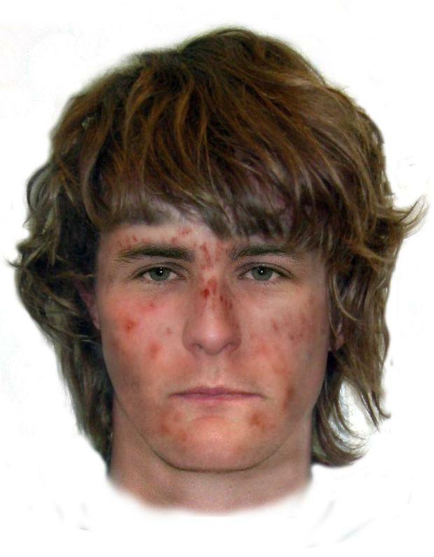 A comfit image of a man that is wanted for questioning by police.