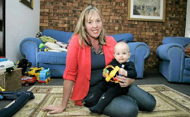 Victoria Murray, with youngest child Thomas, is starting a support group for miners' wives.