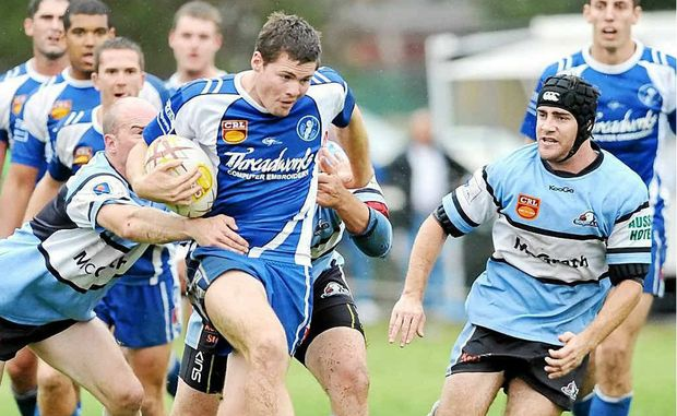 Anthony Don makes a break downfield for the Grafton Ghosts in the 2010 NRRRL grand final. He has been signed by the Gold Coast Titans on a two-year contract.