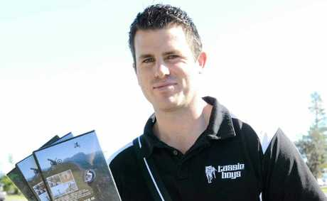 Motocross stunt rider and film-maker Levi Triffitt promotes his fundraising for autism in the Clarence Valley.