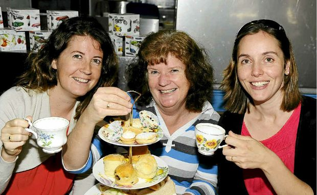 Melissa Patch, Louise Parsons and Julie Harris were at the monthly morning tea party at Ripples On The Clarence yesterday.