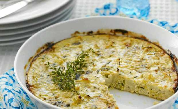 Blue cheese frittata