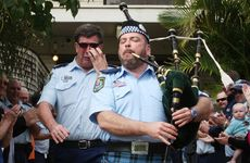 It was an emotional moment for the long-serving policeman.