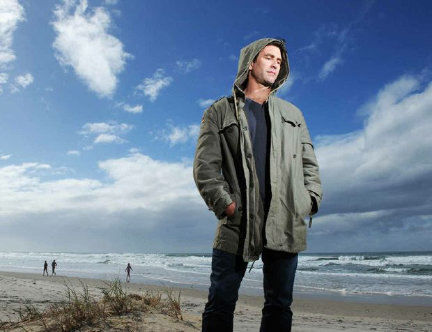 Musician Pete Murray pictured at Suffolk Beach.