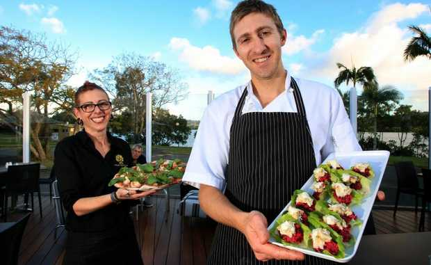 Co-owner Connie Cenfi and Head Chef David Brittingham at Mangrove.
