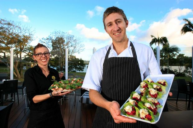 Co-owner Connie Cenfi and Head Chef David Brittingham at Mangrove.