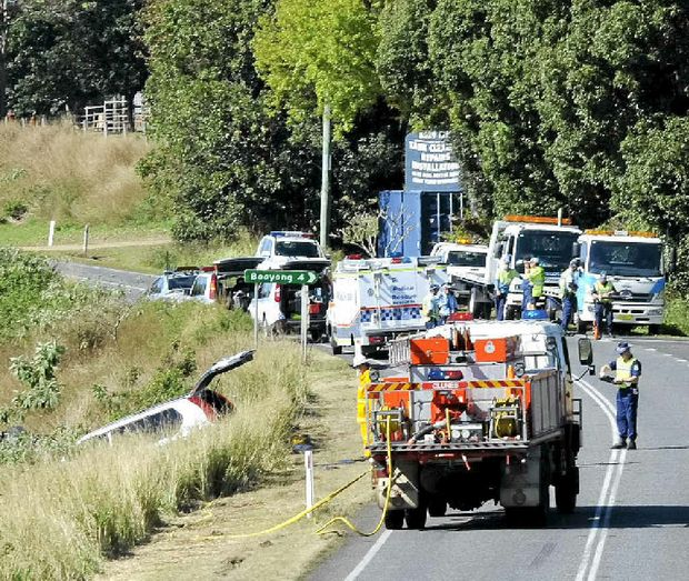 A person was killed after their car ran off the road north of Clunes yesterday.