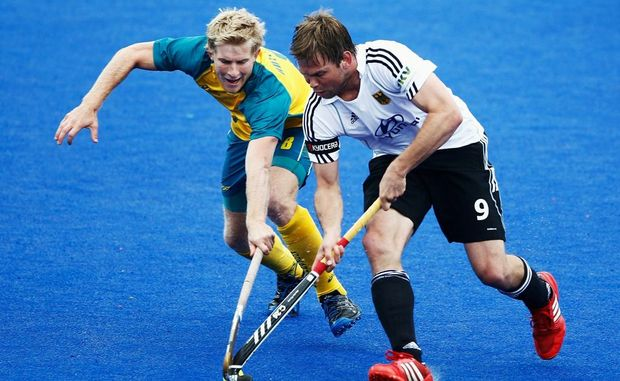 Hockey player Matthew Butturini, left, is the Tweed's sole hope for Olympic glory.