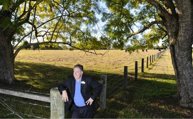 PRD Nationwide Grafton proprietor Robbie Seymour at the soon-to-be-started subdivision at Junction Hill.