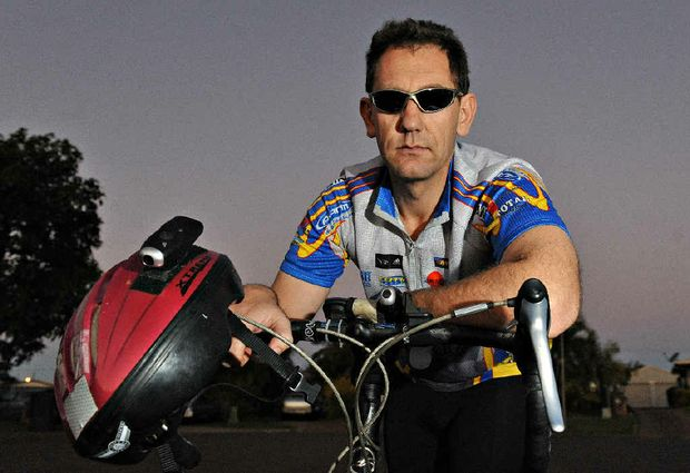 Cyclist Jan Swanepoel has added a video camera to his bike and helmet as added safety.