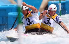 Tim Baillie and Etienne Stott have won gold in the men's C2.