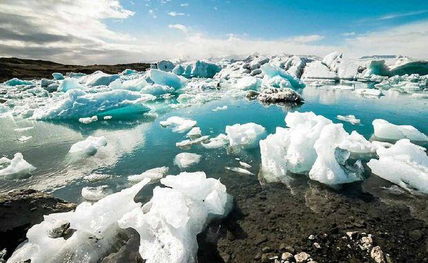 Icebergs at Jokulsarlon, Iceland.