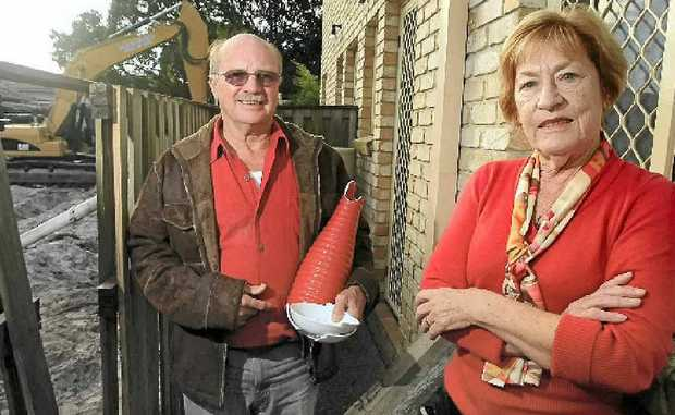 Steve and Anne Handel, of Tugun, have lost crockery from cupboards and appliances that were jiggling across benchtops.