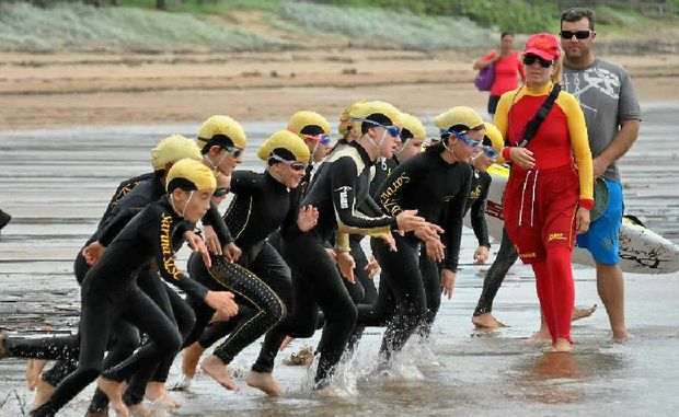 HIT THE SURF: State surf lifesaving award winner Lesley Street supervises a nippers race at Sarina Beach.
