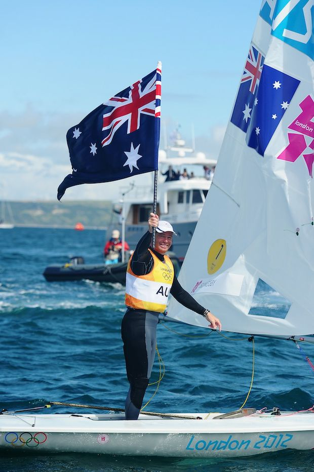 Tom Slingsby has won Australia's second gold medal of the London Olympics.