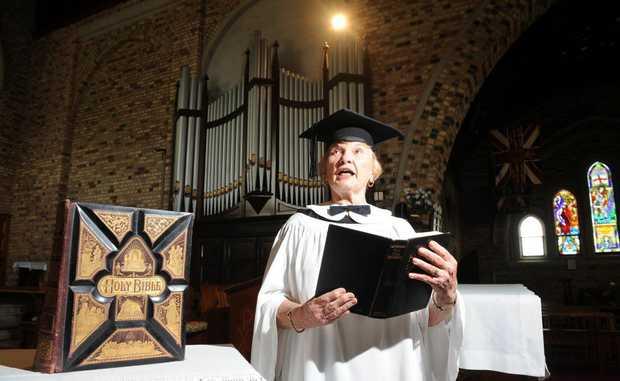 St Andrew's Anglican Church choir member Glenda Roe. The choir is headed for Murwillumbah.