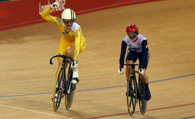 Anna Meares has won gold in the women's sprint.