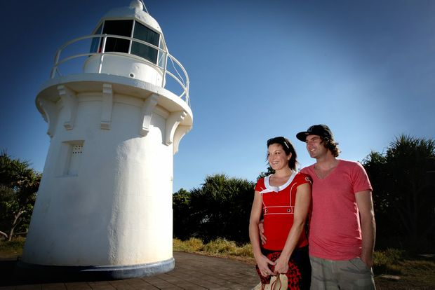 Local couple Laura Fekete and Kurt Laukin at Fingal Lighthouse.