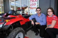 Redline Honda dealer principal Darren Rootes, with staff member Tia Hicks, believes staff and customer training and protective gear are integral to quad bike safety.