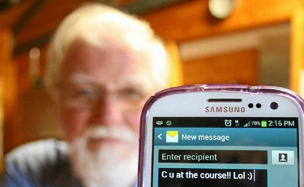 Arthur Maynard will host a free texting course for seniors later this month, as part of the Seniors Week celebrations.