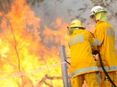 A GRASS fire is burning in the Mount Archer National Park near Thompson's Point Rd.