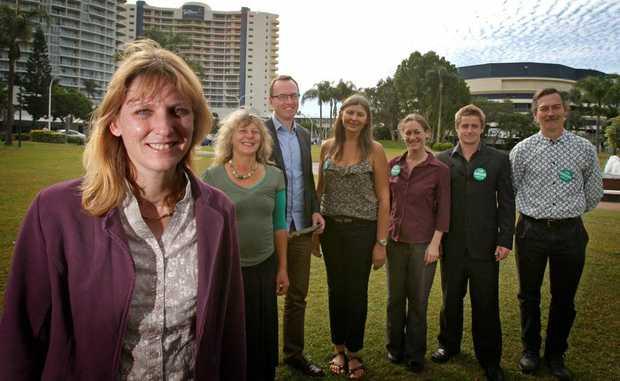 Katie Milne, Joanna Gardner, David Shoebridge, Kirsten Ealand, Andrea Vickers, Mick Munday and Ian Willis at the launch.