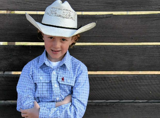 Ben Carey is set to compete in the Mutton Busting competition at the St Mary's Rodeo next month.