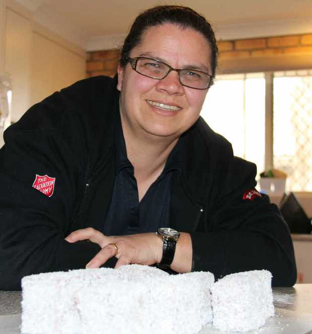 Cathryn Williamson with her award-winning lamingtons.