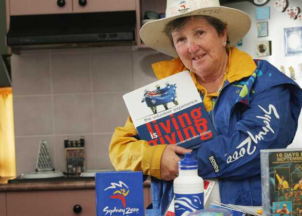 Denice Purcell with her Sydney Olympics volunteer gear. Photo: Blainey Woodham / Daily News