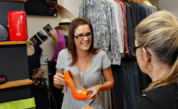 """Alice Russell provides service with a smile at online savvy retailer I.D. Dezine in Mackay. Alice is planning to attend workshop sessions called Retail """"HowTo"""" which have been organised by the Mackay Chamber of Commerce."""