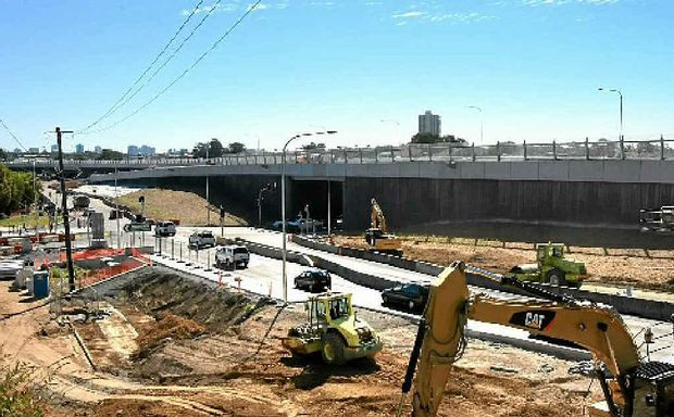 WORK IN PROGRESS: Roadworks on the Banora Point bypass.