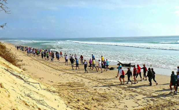THEY'RE OFF: Conditions on Sunday were perfect for the Byron2Bruns run.