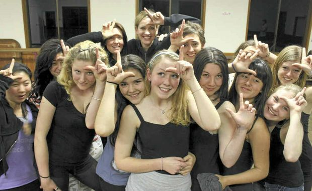 DANCING QUEEN: Daisy Valerio (front) with members of the Dance Dynamics musical theatre group.
