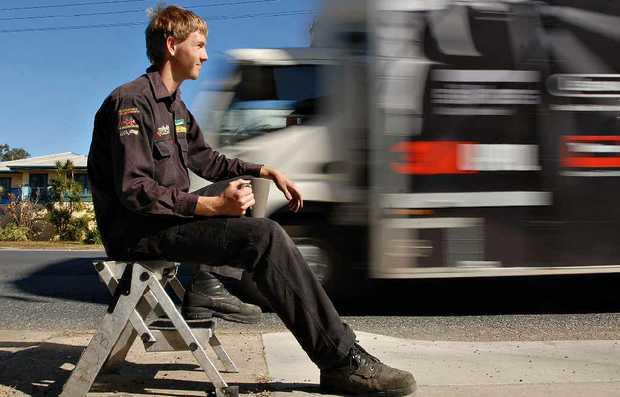 Mackay mechanic Warrick Boyd says planned roadworks will create 'traffic chaos'.