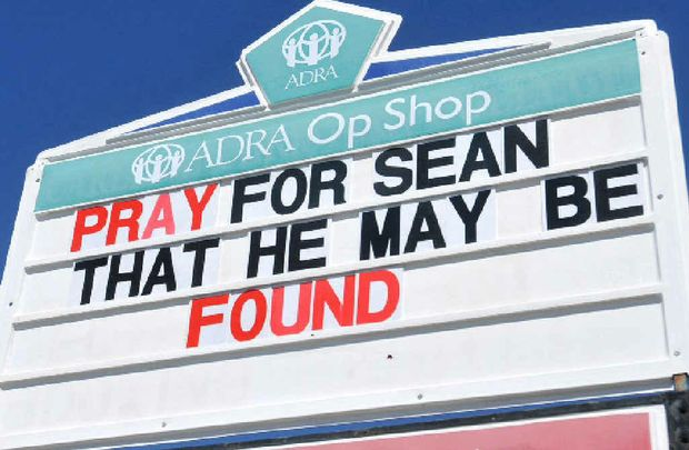 A sign outside the Mackay Central Seventh Day Adventist Church where Sean Russell worshipped.