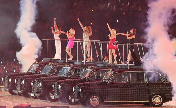 The Spice Girls at the Closing Ceremony of the London Olympics.